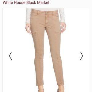 White House Black Market Tan Skimmer Pants